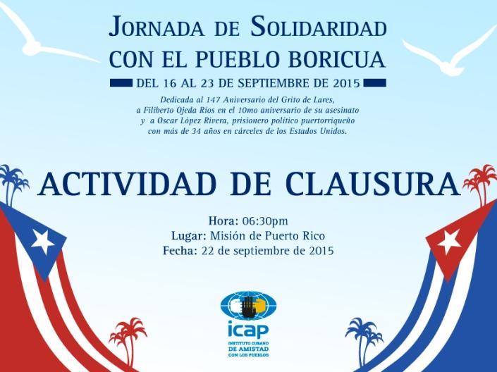 Jornada de Solidaridad con el pueblo Boricua